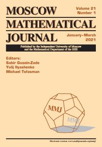 Moscow Mathematical Journal № 1/2021