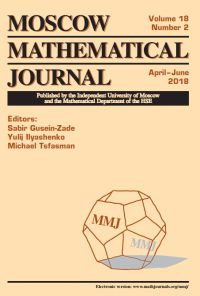 Moscow Mathematical Journal № 2/2018.