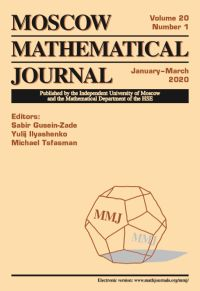 Moscow Mathematical Journal № 1/2020