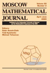 Moscow Mathematical Journal № 2/2020