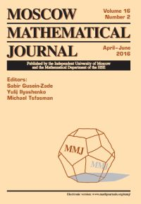 Moscow Mathematical Journal № 2/2016