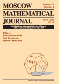 Moscow Mathematical Journal № 2/2019