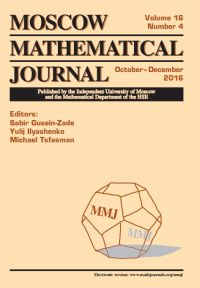 Moscow Mathematical Journal № 4/2016.